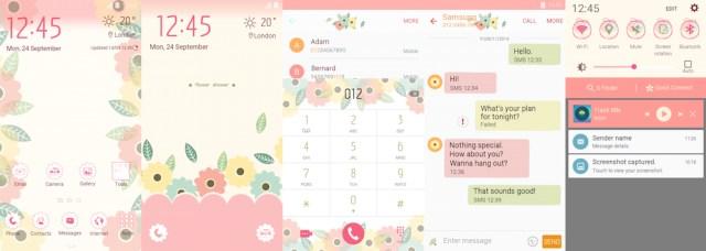 Samsung Galaxy S6 Edge Flower Shower Theme