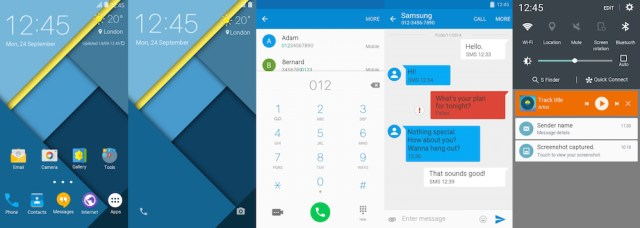 Samsung Galaxy S6 Edge Material Design Theme