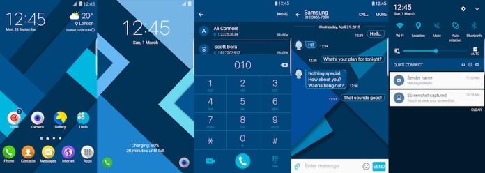 Samsung Galaxy Theme - Material Flat Blue