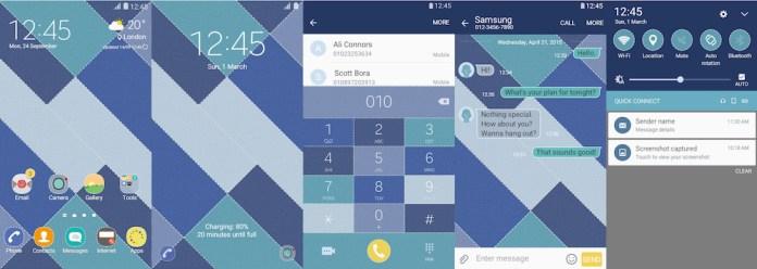 Samsung Galaxy Theme - [Walk on Mars] Blue Stitch
