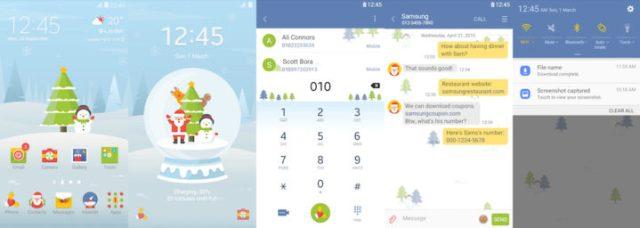 Samsung Galaxy Theme - Hello! Snowman