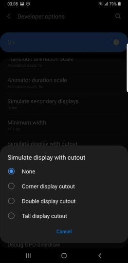 galaxy s9 notch android pie beta