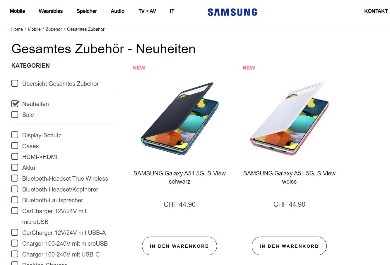 A51 5G Pagina de Samsung