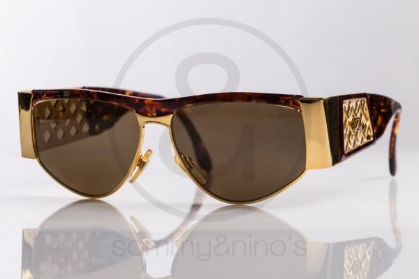 vintage BrillArte 1013 sunglasses frames black gold sammyninos 1