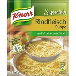 Knorr suppe mit rind