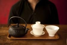 1) Hot water, gaiwan, & cup