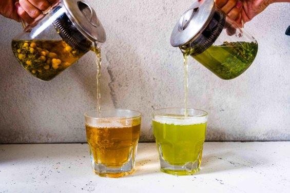 Tea for two: Samovar Chamomile Blossom and Nishi Sencha