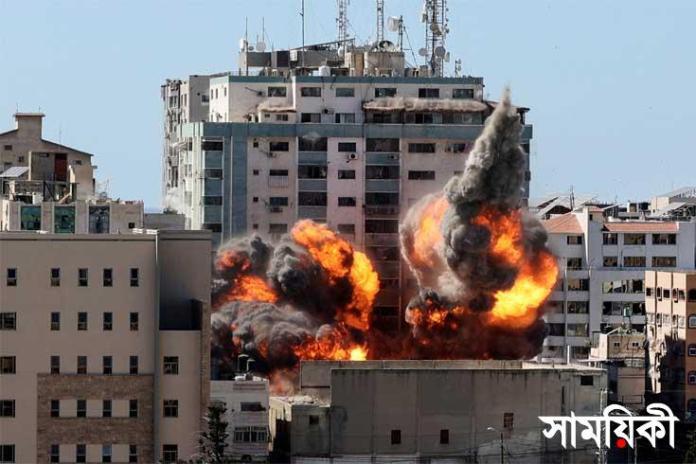 Al Jazeera গাজায় গণমাধ্যম এপি ও আলজাজিরার কার্যালয়কে গুঁড়িয়ে দিয়েছে ইসরায়েল