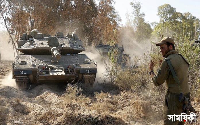 Merkava tank Israel ইজরায়েল-হামাস সঙ্ঘাত: নেতানিয়াহুকে বাইডেনের যুদ্ধ বিরতির তাগিদ