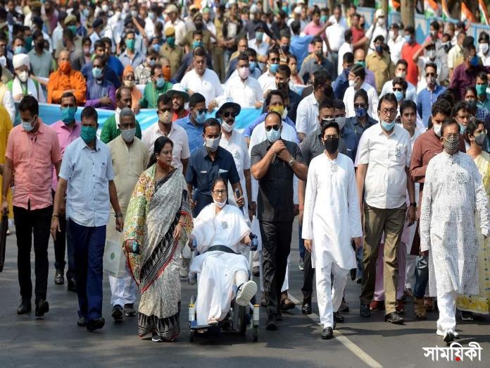 mam পশ্চিমবঙ্গ বিধানসভা নির্বাচন: <br>২০৭টি আসন পেয়ে এগিয়ে তৃণমূল কংগ্রেস