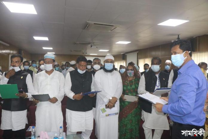 Barishal Photo Newly elected 49 UP chairman of Barishal took oath 2 বরিশালের ৪৯ ইউপি চেয়ারম্যানের শপথ গ্রহণ
