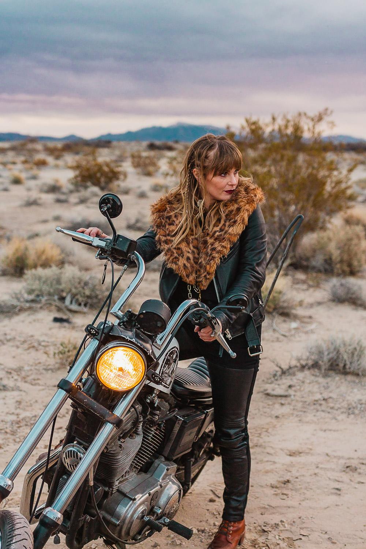 Pahrump Nevada Biker Babe Elopement by Sam Payne Photo