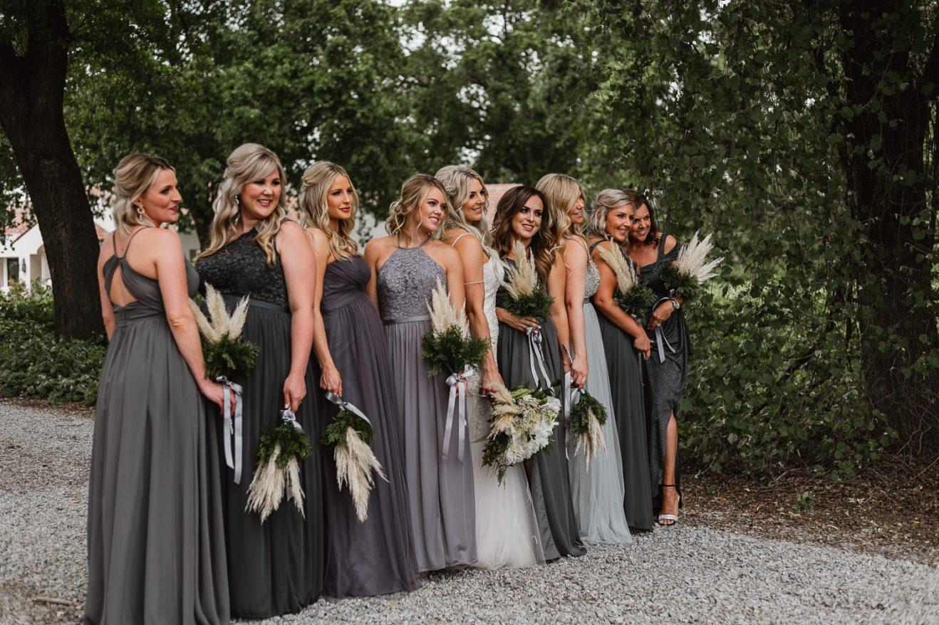Bride and bridesmaids bridal party photos.