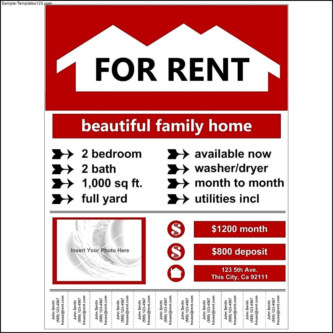Loan Informations  House For Rent Template