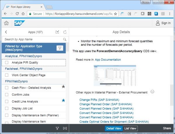 Fioriapprefernce-WD Apps