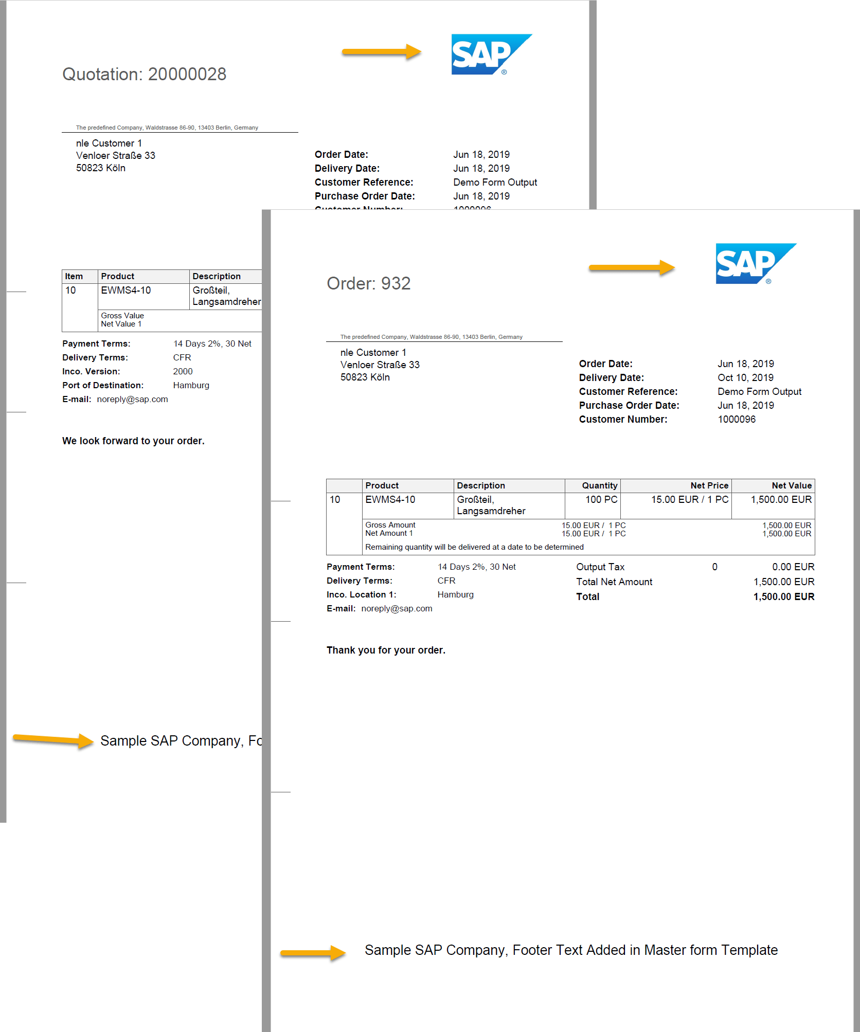 S4 HANA Output Management - Introduction, Master Form Layout