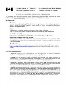 Letter Of Invitation For Canadian Visa