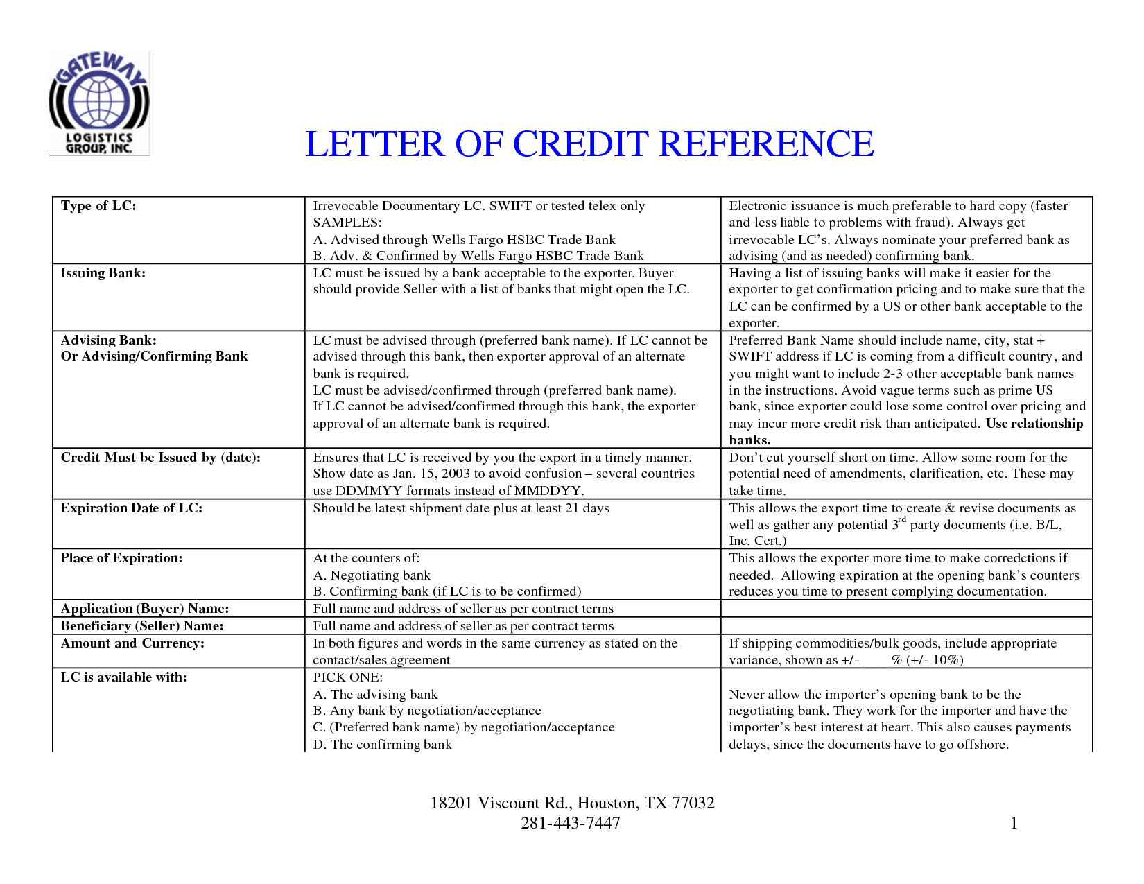 credit reference request