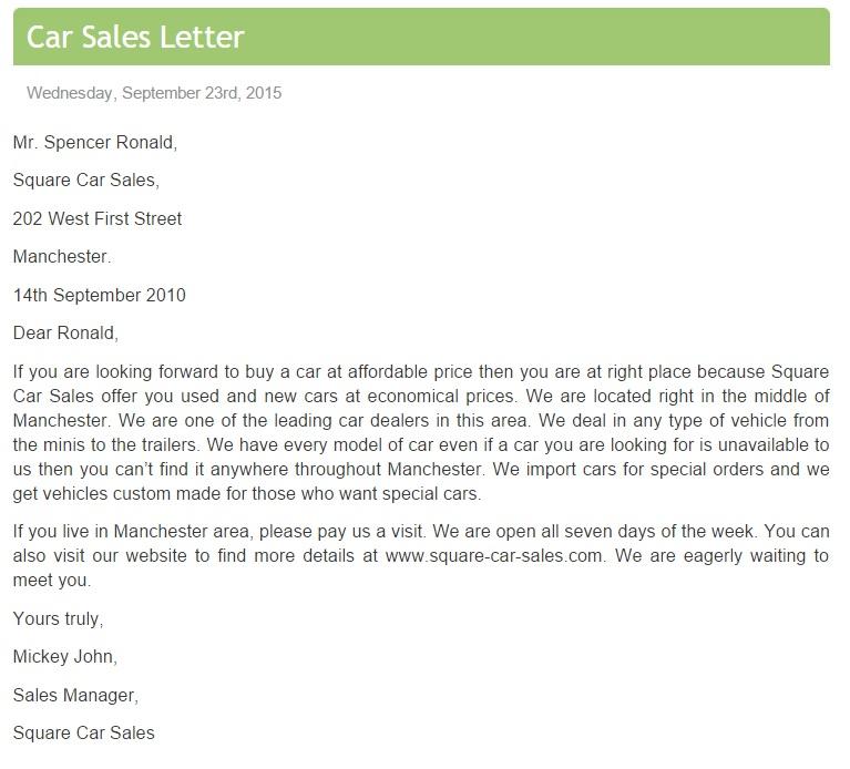 sample cover letter for sales representative