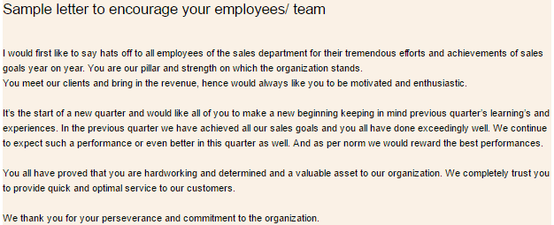 letter of appreciation for employee performance