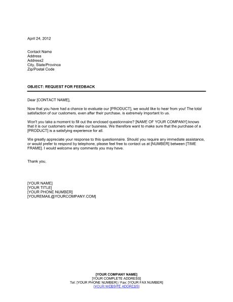 sample letter to customer for business