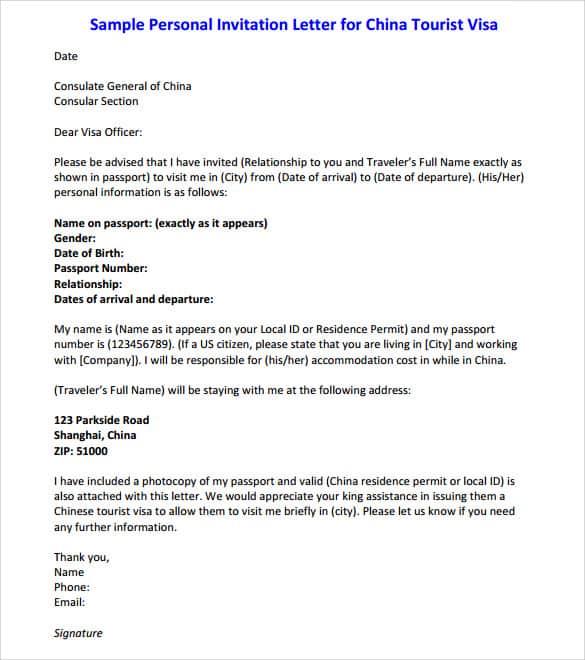 Invitation Letter For Visa Usa Titan Northeastfitness Co
