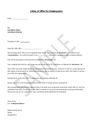 Job offer template word kardasklmphotography job offer template word spiritdancerdesigns Choice Image