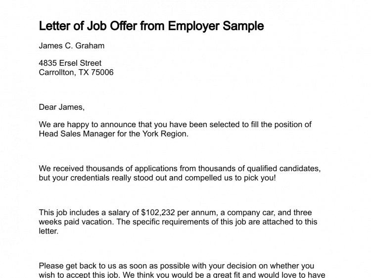 Job Offer Letter 40