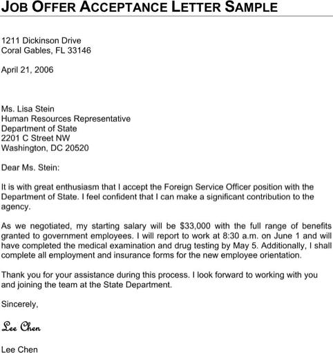 Lovely Job Offer Letter 90