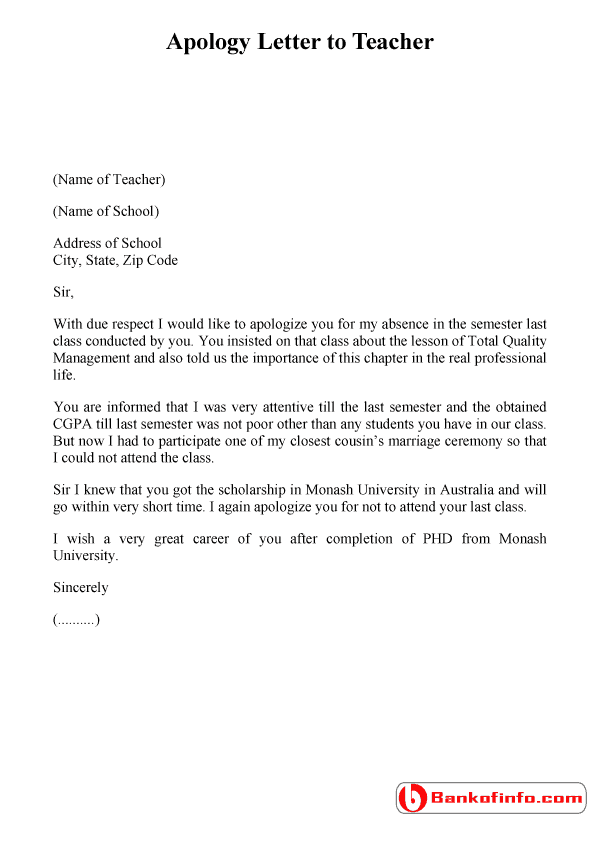 8 Apology Letter Samples Sample Letters Word