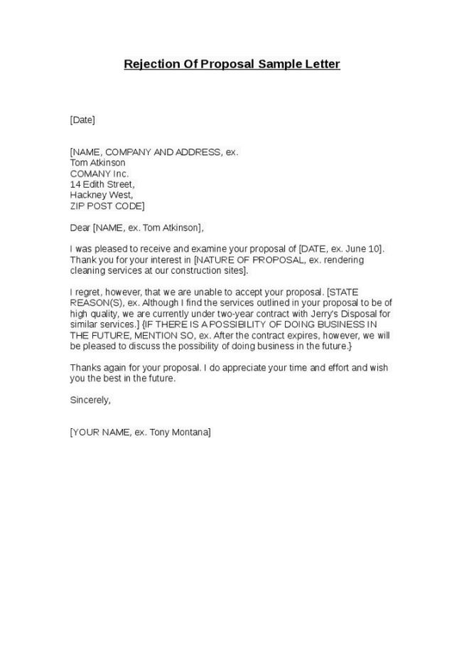 9 rejection letter samples sample letters word rejection letter sample 002 thecheapjerseys Choice Image