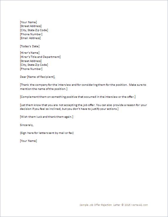 9 Rejection Letter Samples Sample Letters Word