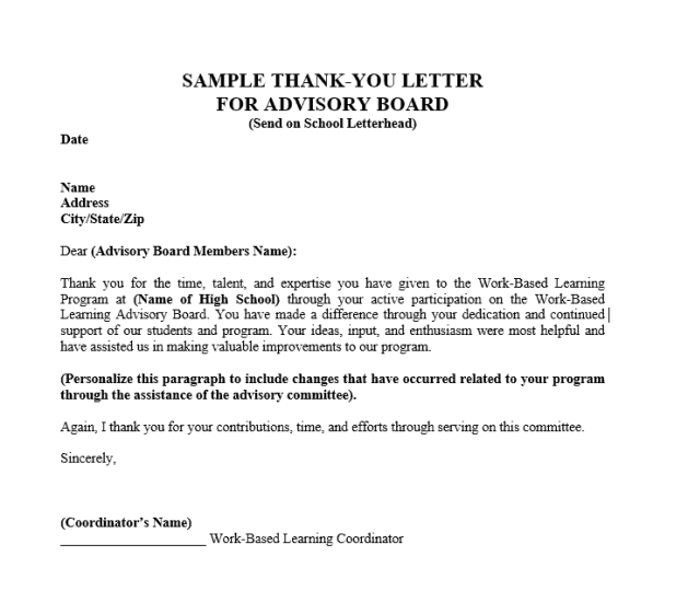 thank you letter example - Resume Thank You Letter Sample