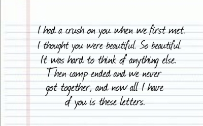 Crush letters to him