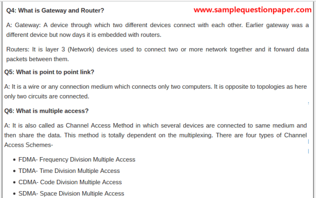 Basic Networking Interview Questions for Freshers Experienced PDF
