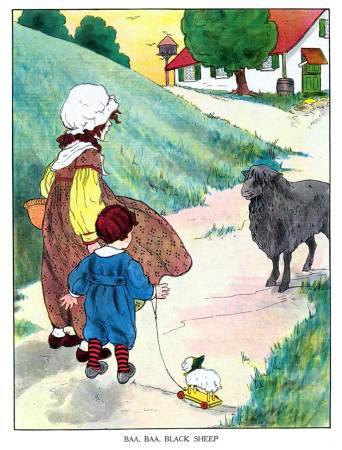 Baa-Baa Black Sheep Illustration