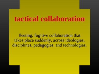 Tactical Collaboration Definition