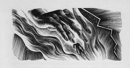 Hand of the Creator, Creature. Woodcut by Lynd Ward (1934)
