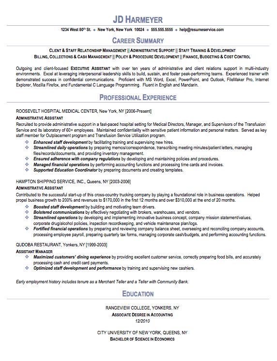 Admin Resume Sample. administrative assistant sample resume sample ...