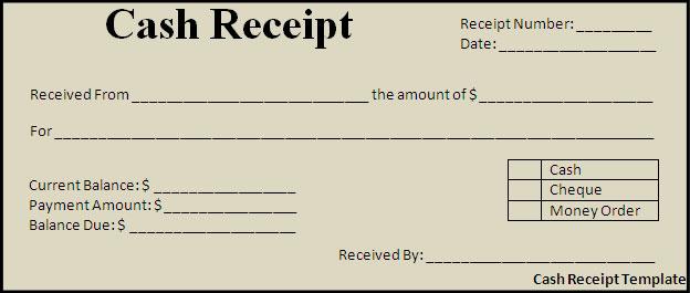 Doc Cash Receipt Voucher Word Format Cash Receipts Template – Receipt Forms Free Download