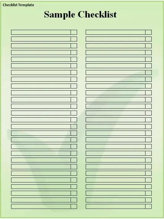 Checklist 11  Microsoft Word Template Checklist