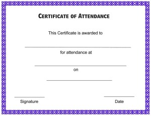 Certificate of attendance template free formats excel word attendance certificate 2 yadclub Gallery