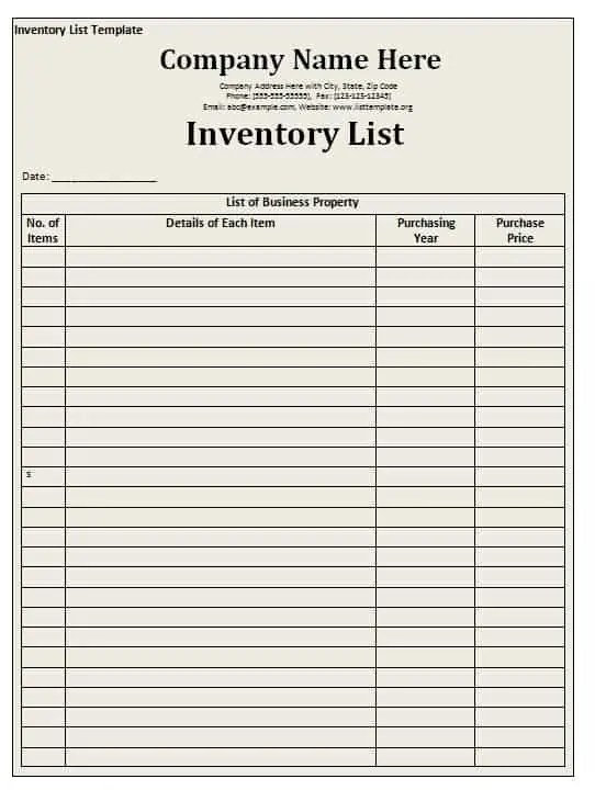 Are You Looking Something Useful To Prepare An Inventory List? Stop  Searching More Because A Best Inventory List Template Is Available Here For  You.  Inventory List Example