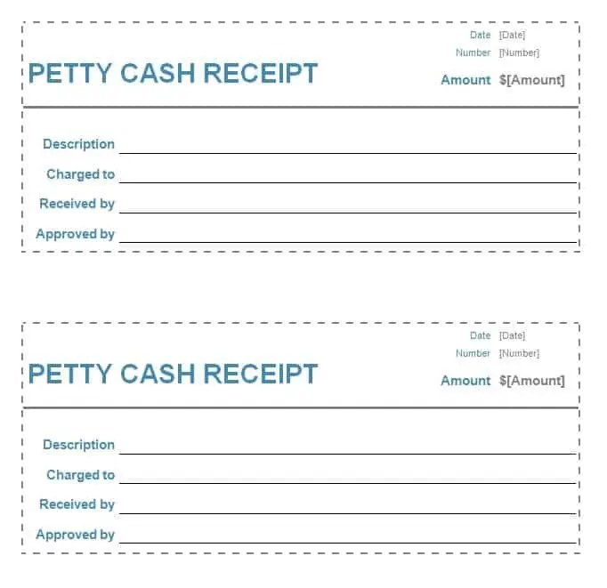 Petty Cash Receipt Image  Petty Cash Receipt Sample