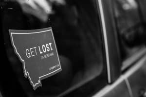 Free Get Lost Montana Sticker
