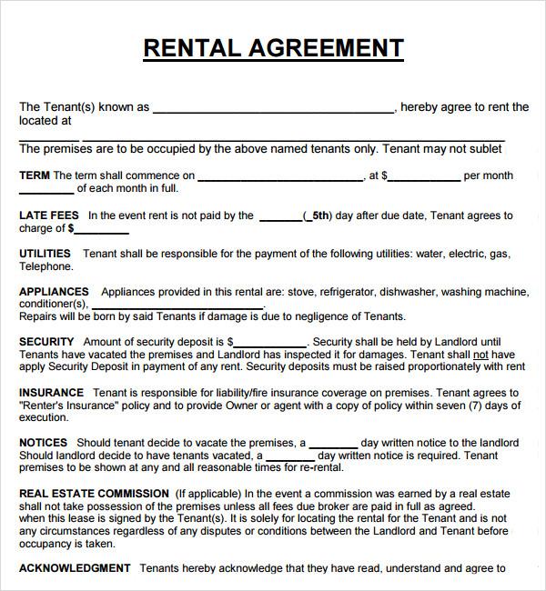 templatesmob com lease agreement template html 10 basic – Rental Agreement Doc