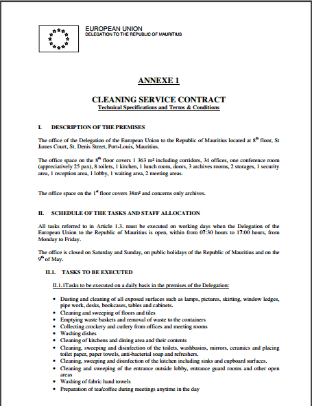 Cleaning Contract Template – Cleaning Contract Template