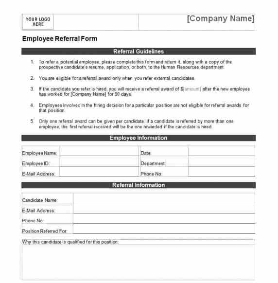 Employee Referral Form Templates  Free Sample Templates