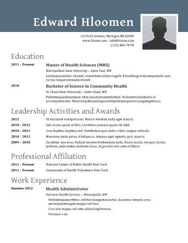 resume layout and templates