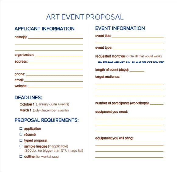 Event Proposal Templates  Free Sample Templates